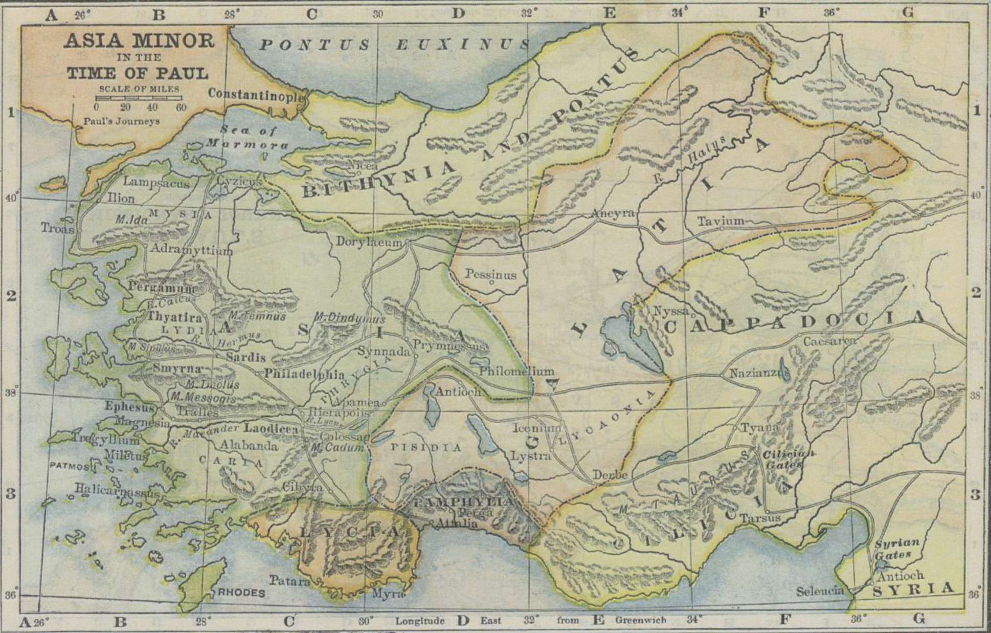 Bible Map Of Asia Minor.Historical Maps Of The Lands Of The Bible Free Holiness Gospel
